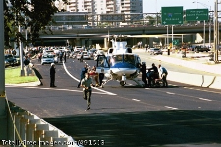 Remembering Interstate 395, Virginia's main artery into the Pentagon and Washington, is closed off Tuesday following the crash of a hijacked plane into the Department of Defense headquarters allowing helicopters to evacuate the injured. Photo Credit: Sep 11, 2007