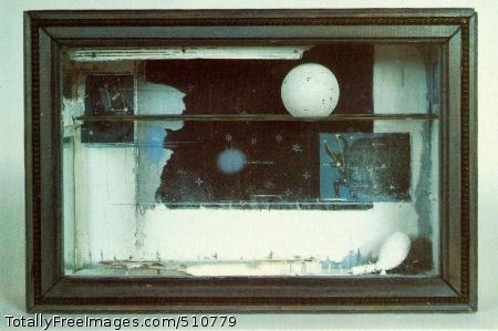 Cassiopeia 1 c. 1960 (140 Kb); Construction, 9 7/8 x 14 7/8 x 3 3/4 in; Estate of Joseph Cornell
