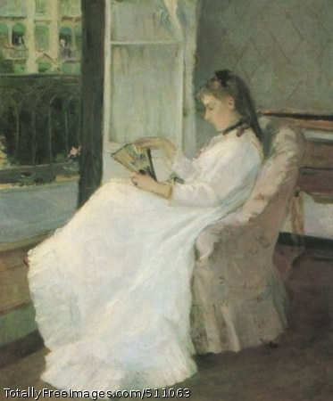"""The Artist's Sister at a Window 1869; National Gallery of Art, WashingtonAlso referred as """"Young Woman Seated at a Window"""" or """"Portrait of Edma Pontillon"""", the subject is Berthe Morisot's sister Edma."""
