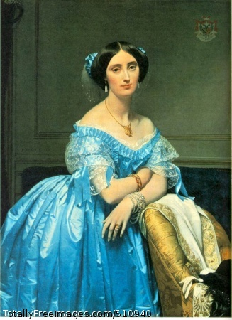 Pauline Eleanore de Galard de Brassac de Bearn, Princesse de Broglie 1853 (130 Kb); Oil on canvas, 47 3/4 x 35 3/4 in; The Metropolitan Museum of Art, New York