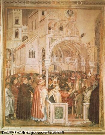 Death of St Lucy 1379-84; Fresco, 237 x 290 cm; Oratorio di San Giorgio, Padua