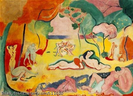 Le bonheur de vivre (The Joy of Life) 1905-06 (150 Kb); Oil on canvas, 175 x 241 cm (69 1/8 x 94 7/8 in); Barnes Foundation, Merion, PA