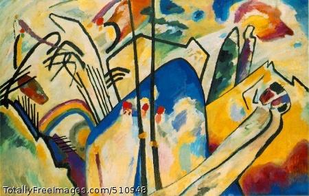 Composition IV 1911 (170 Kb); Oil on canvas, 159.5 x 250.5 cm (62 7/8 x 98 5/8 in); Kunstsammlung Nordrhein-Westfallen, Dusseldorf