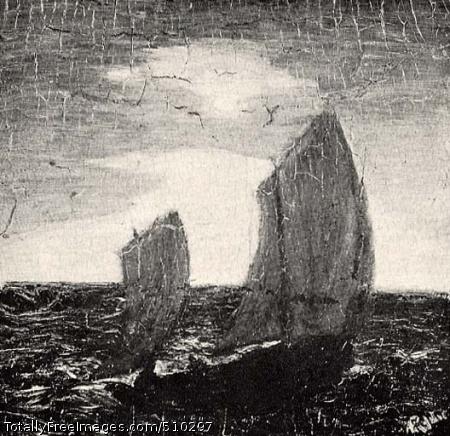 Marine, Moonlight Artist: Ryder, Albert Pinkham, 1847-1917, painter. Medium: Oil on panel. Smithsonian Control Number: IAP 35680329
