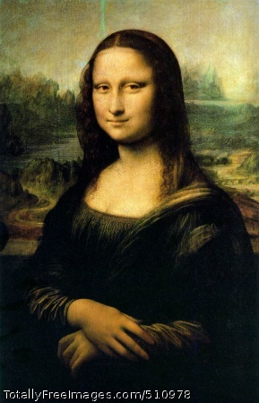 La Joconde Leonardo da Vinci Portrait of Mona Lisa (1479-1528), also known as La Gioconda, the wife of Francesco del Giocondo; 1503-06 (150 Kb); Oil on wood, 77 x 53 cm (30 x 20 7/8 in); Musee du Louvre, ParisThis figure of a woman, dressed in the Florentine fashion of her day and seated in a visionary, mountainous landscape, is a remarkable instance of Leonardo's sfumato technique of soft, heavily shaded modeling. The Mona Lisa's enigmatic expression, which seems both alluring and aloof, has given the portrait universal fame.