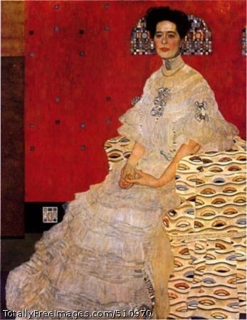 Bildnis Fritza Riedler 1906 (60 Kb); Oil on canvas, 153 x 133cm; Österreichische Galerie, Vienna