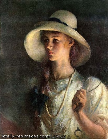 My Daughter Waist-length portrait of Sylvia wearing a wide-brimmed hat. Medium: Oil on canvas. Smithsonian Control Number: IAP 08260330