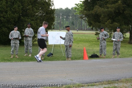 Title Col. Timothy O\'Hara begins the fourth and final lap of the two-mile run. Photo Credit: Apr 25, 2008