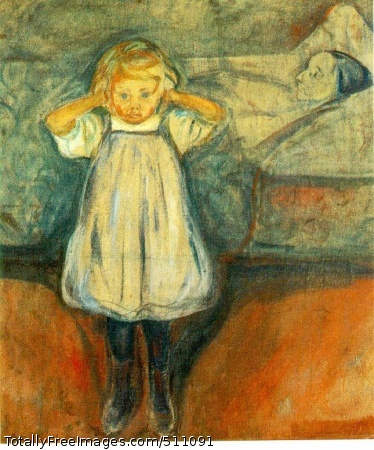 The Dead Mother 1899-1900 (130 Kb); Oil on canvas, 39 3/8 x 35 3/8 in; Kunsthalle, Bremen