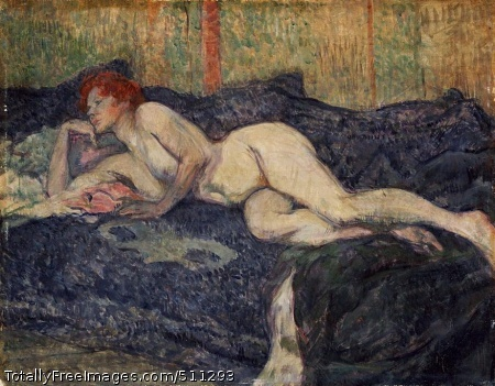 Reclining Nude 1897; Oil on wood panel, 12 x 15 1/2 in; Barnes Foundation