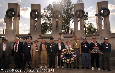 The Greatest World War II veterans from Utah visit the National World War II Memorial in Washington, D.C., Sept. 15. The memorial, located on the National Mall, is dedicated to all Americans, military or civilian, who served overseas or on the home front during World War II.  Photo Credit: Sep 20, 2007