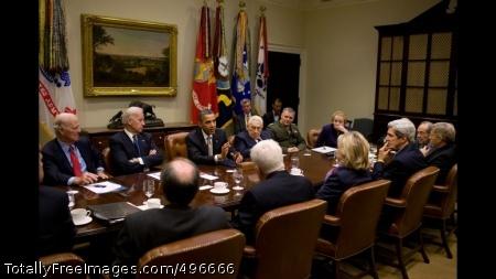 START Treaty Meeting President Barack Obama attends a START Treaty meeting in the Roosevelt Room of the White House, Nov. 18, 2010. (Official White House Photo by Pete Souza)